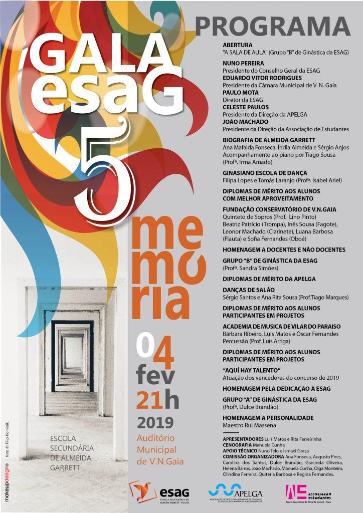 V Gala ESAG 2019 - Programa